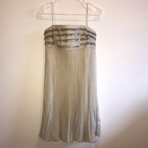 Carmen Marc Valvo dress pleated beaded Nordstrom